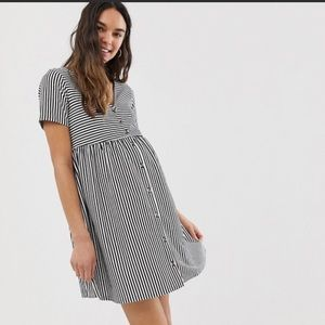 ASOS striped maternity dress